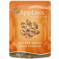 Applaws Natural Cat Pouches - 70 g - Hühnchenbrust & Kürbis (0746532)