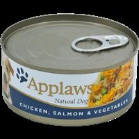 Applaws Natural Dog Tins - 156 g - Huhn, Lachs & Reis (5060122490665)