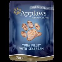 Applaws Natural Cat Pouches - 70 g - Thunfischfilets & Brachse (6535)