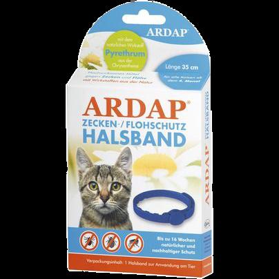 Ardap Zecken- u. Flohhalsband für Katzen - 35 cm (77230)
