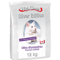 BTG Classic Cat Klumpstreu - Silver Edition mit Babypuderduft - 12 kg (28377)