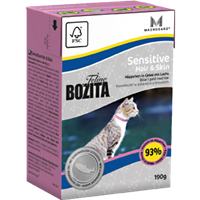 Bozita Feline Sensitive Hair & Skin - Häppchen in Gelee - 190 g (2061)