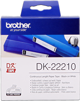 Brother Endlosetikett Papier DK-22210 Schwarz auf Weiß
