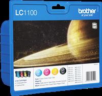 zestaw Brother LC-1100-BK C M Y