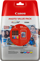 Value Pack Canon CLI-551 Photo Value Pack