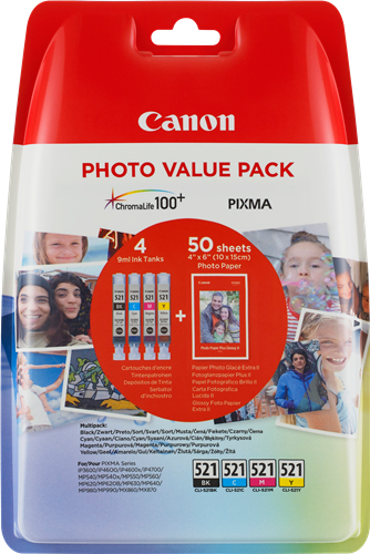 Canon CLI-521 Photo Value Pack