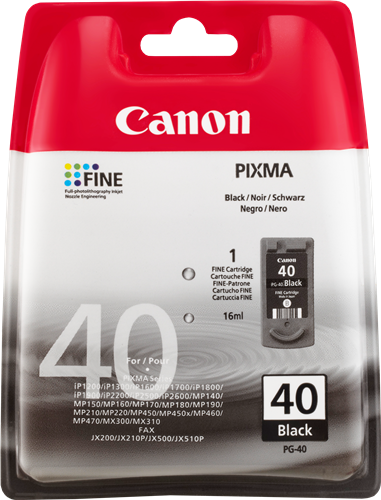 canon pg 40 ink cartridge for less. Black Bedroom Furniture Sets. Home Design Ideas