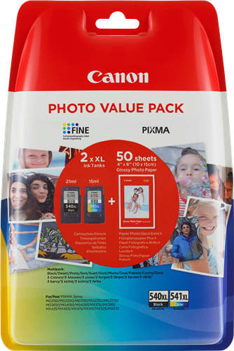 Canon PG-540XL CL-541XL Photo Value Pack