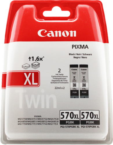 Canon PGI-570pgbk XL Twin
