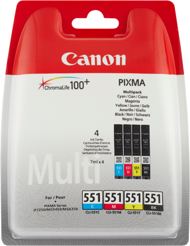 Canon iP 7250 Multipack CLI-551 cmybk