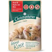 Christopherus Feine Kost - Ältere Katze - 85 g - Rind & Huhn mit Reis (4005784174554)