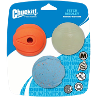 Chuckit Fetch Medley - Größe M - Größe M - Ø 6,50 cm (CH0520520)