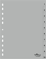 DURABLE Kunststoff-Register Zahlen