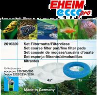 EHEIM Set Filtermatte & Filtervlies für Ecco Pro - 1 x Matte, 4 x Vlies (4011708260999)