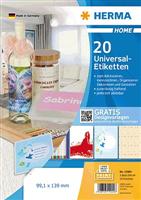 5-Blatt-Packung: Universaletiketten HERMA 12904