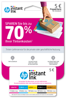 HP Instant Ink Registrierungskarte