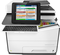 Dispositivo multifunzione HP PageWide Enterprise Color Flow MFP 586z