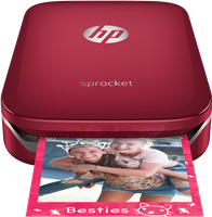 Fotodrucker HP Sprocket, rot