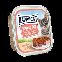 Happy Cat Duo Häppchen auf Paté - 100 g