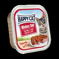 Happy Cat Duo Häppchen auf Paté - 100 g - Geflügel & Rind (70177)