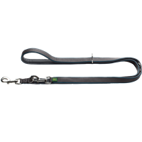 Hunter Verstellbare Leine Divo - dunkelblau/grau - 20 mm x 200 cm (69103)