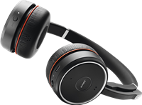 Jabra Cuffie auricolari stereo wireless on-Ear Evolve 75 UC