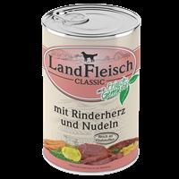 Landfleisch Dog Pur mit Frischgemüse - 400 g - Rinderherz & Nudeln (440201)