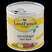 Landfleisch Dog Pur mit Frischgemüse - 800 g - Geflügel & Reis extra mager (440214)