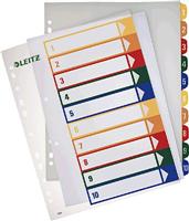 Register PC-beschriftbare , farbig,1-10, A4, Leitz 1293-00-00