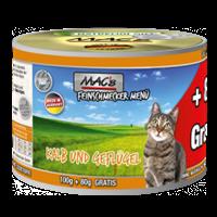 MAC's Feinschmecker Menü - 100 g + 80 g GRATIS - Kalb und Geflügel (823-AW)