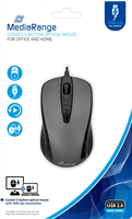 Corded 3-Button Optical Mouse MediaRange MROS201