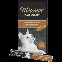 Miamor Cat Snack - Leberwurst-Cream - 6 x 15 g (1000036083)