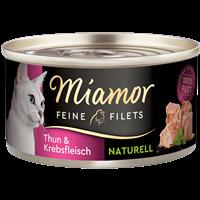 Miamor Feine Filets Naturelle - 80 g - Thunfisch & Krebs (75016)