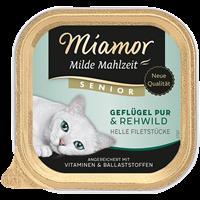 Miamor Milde Mahlzeit Senior - 100 g - Geflügel pur & Rehwild (75068)