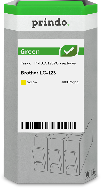 ink cartridge Prindo PRIBLC123YG