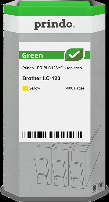 inktpatroon Prindo PRIBLC123YG