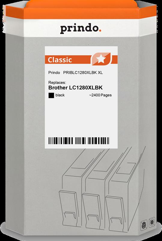 inktpatroon Prindo PRIBLC1280XLBK