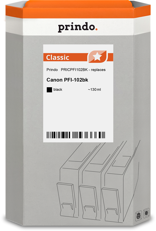 Cartuccia d'inchiostro Prindo PRICPFI102BK