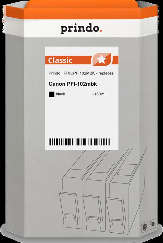 Cartucho de tinta Prindo PRICPFI102MBK