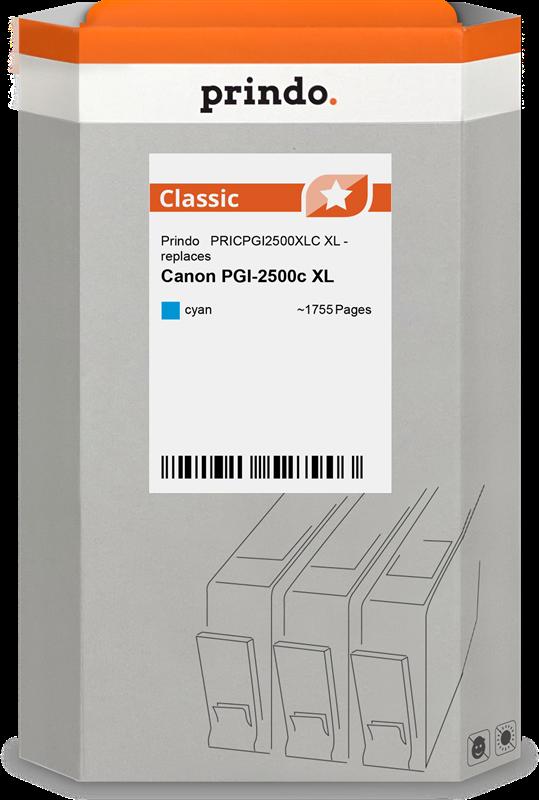 inktpatroon Prindo PRICPGI2500XLC