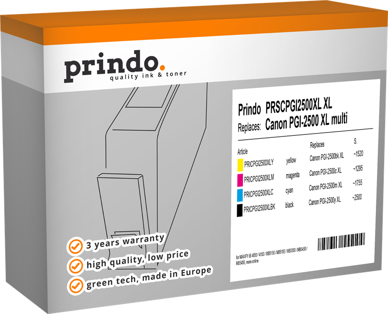 zestaw Prindo PRSCPGI2500XL