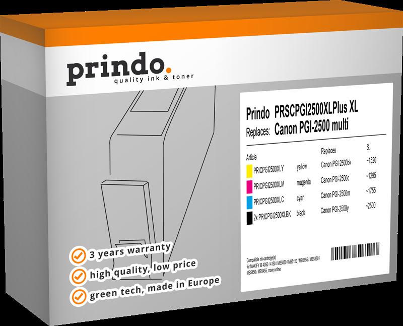 Multipack Prindo PRSCPGI2500XLPlus