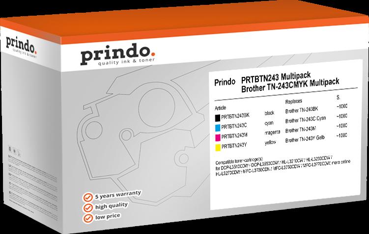Multipack Prindo PRTBTN243 Rainbow