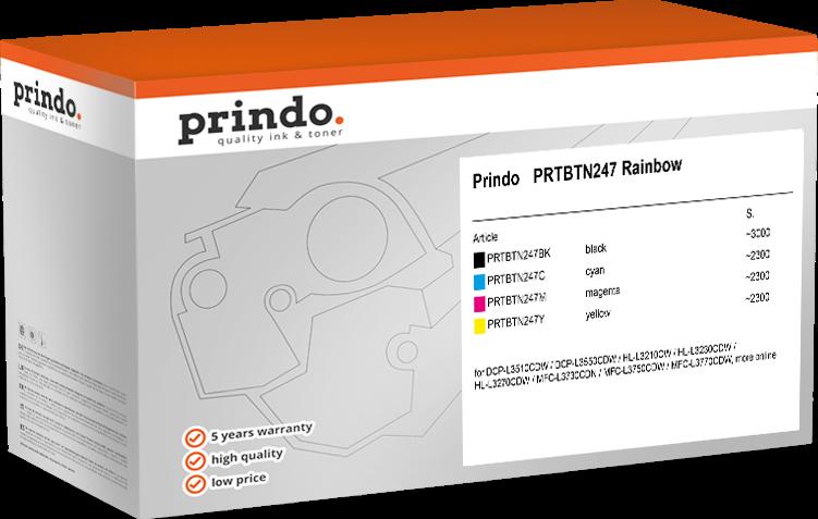 Value Pack Prindo PRTBTN247 Rainbow