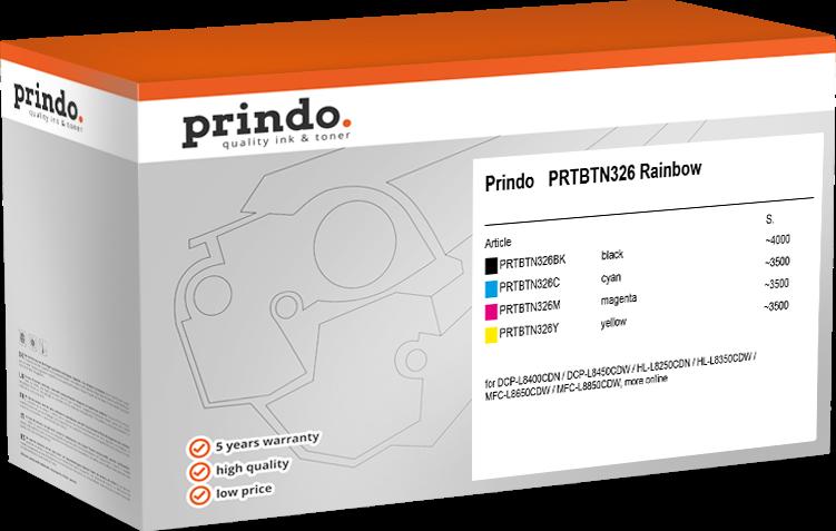Value Pack Prindo PRTBTN326 Rainbow