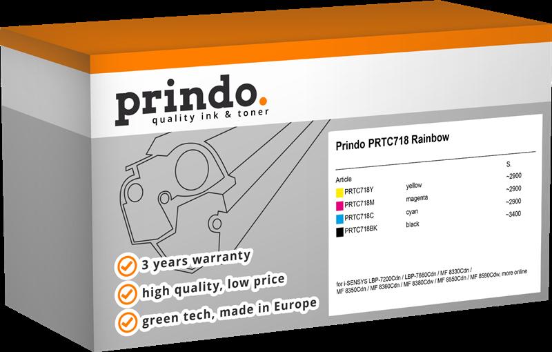 Value Pack Prindo PRTC718 Rainbow