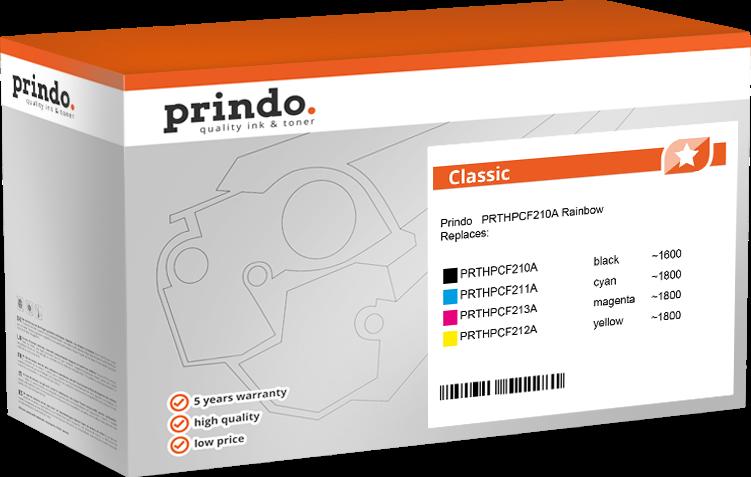 value pack Prindo PRTHPCF210A Rainbow
