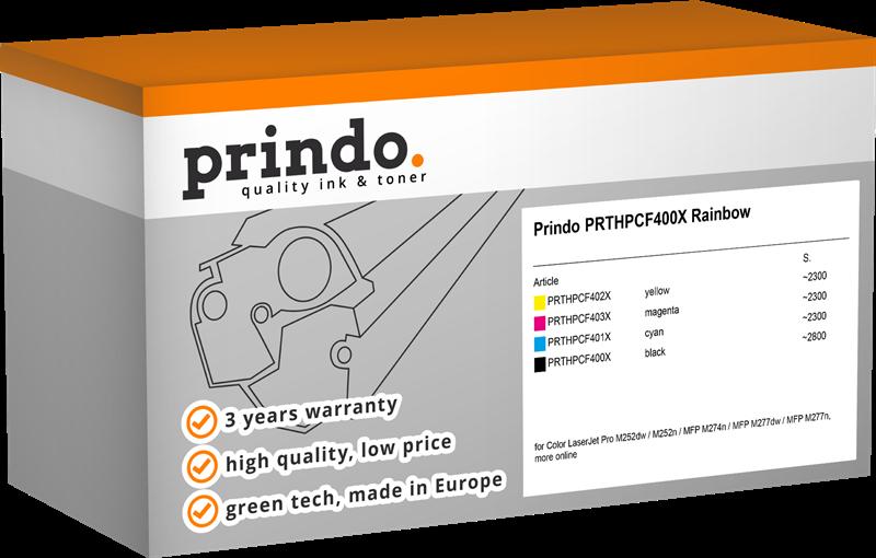 Value Pack Prindo PRTHPCF400X Rainbow
