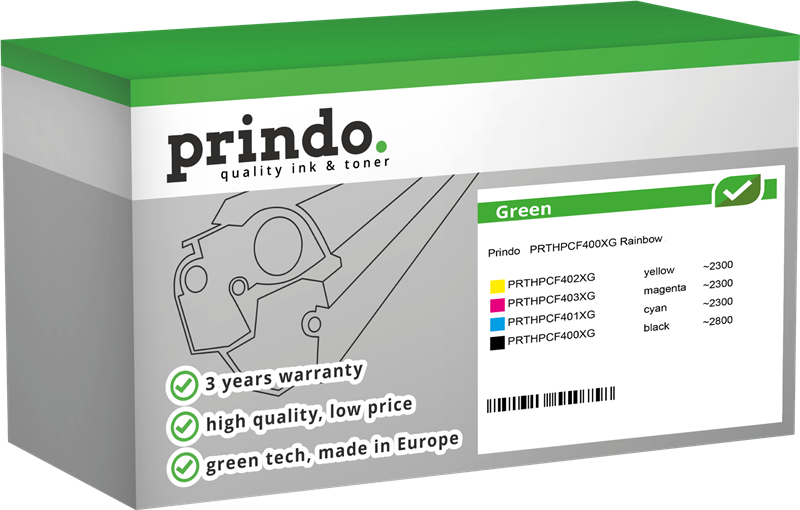 value pack Prindo PRTHPCF400XG Rainbow