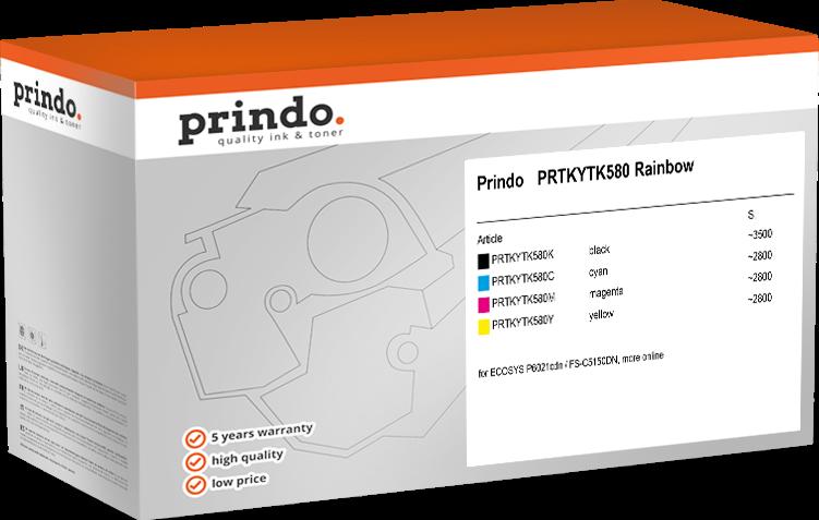value pack Prindo PRTKYTK580 Rainbow